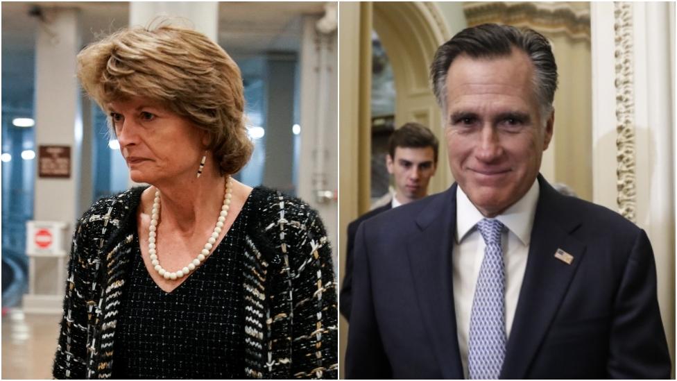 Lisa Murkoswki y Mitt Romney