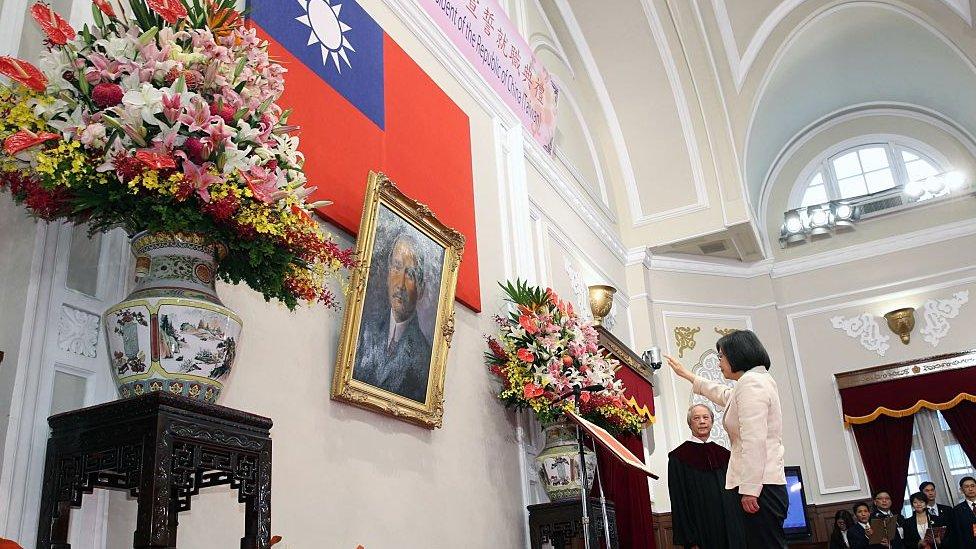 三年多前,蔡英文宣誓就任總統。