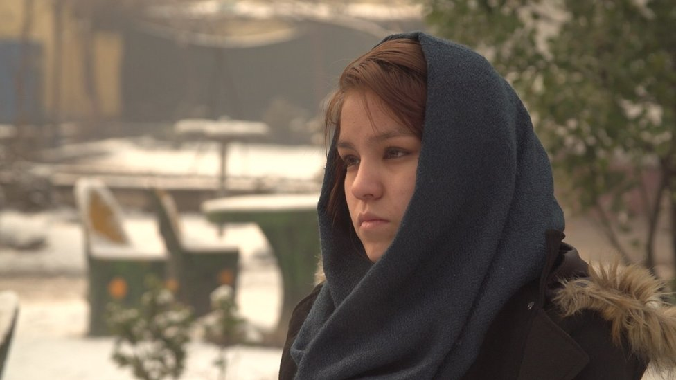 Fatima., whose mother Samar was killed by a Taliban bomb last year