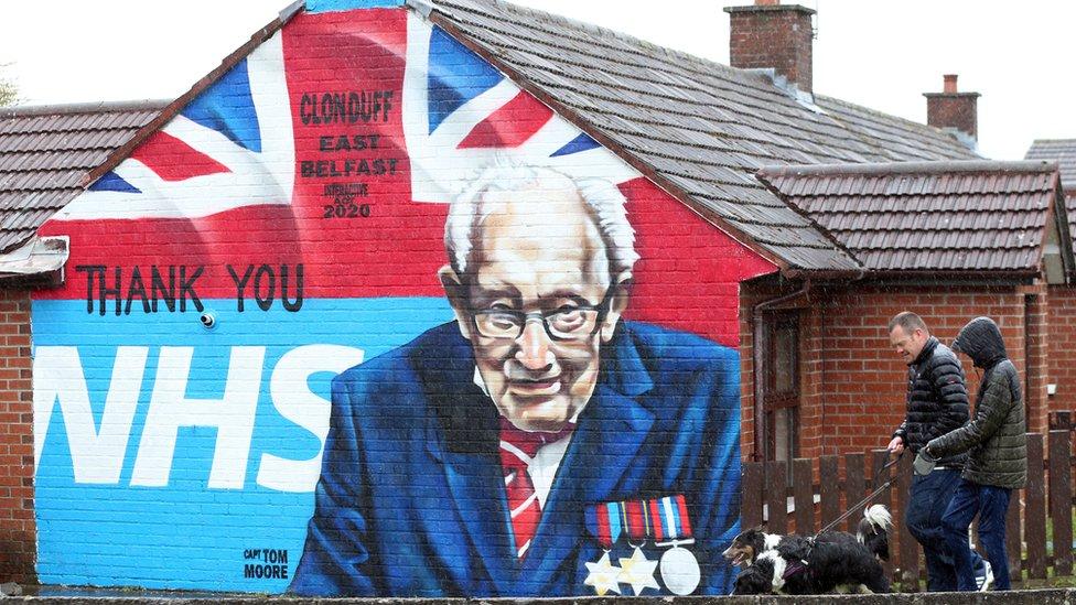 Mural of Captain Tom Moore in east Belfast