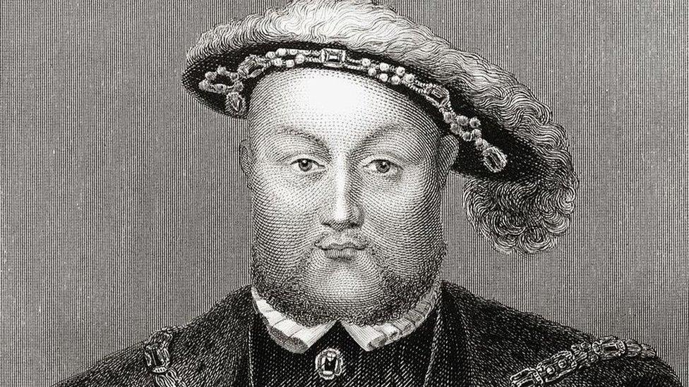 grabado del rey inglés Enrique VIII