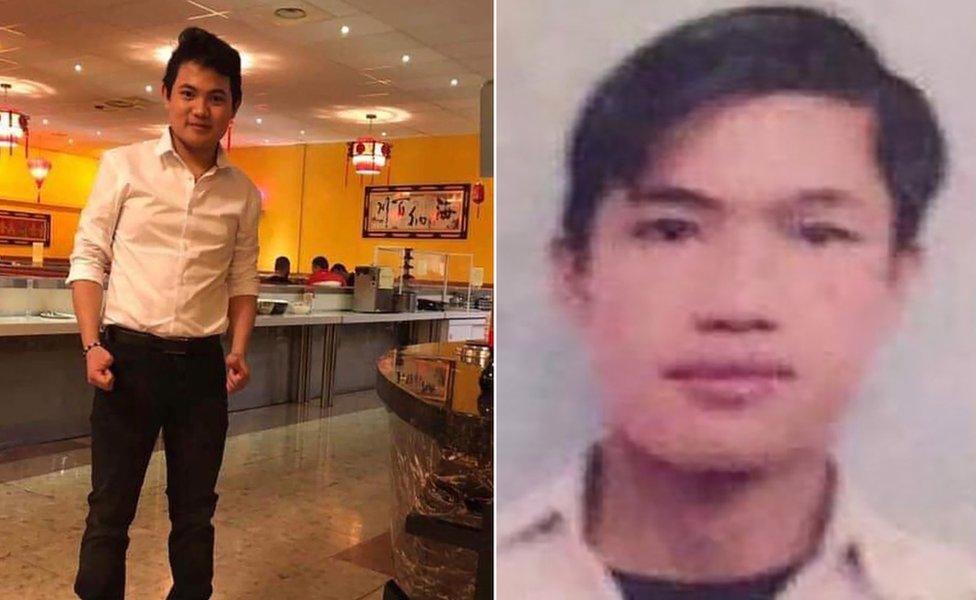 Los primos Hoang Van Tiep (i) y Nguyen Van Hung.
