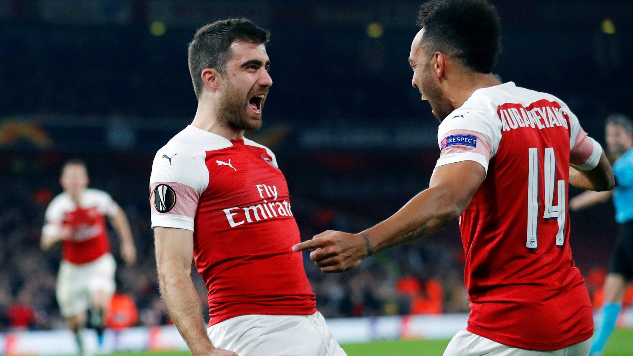 Arsenal 3-0 (3-1) Bate Borisov: Gunners ease into Europa League last 16