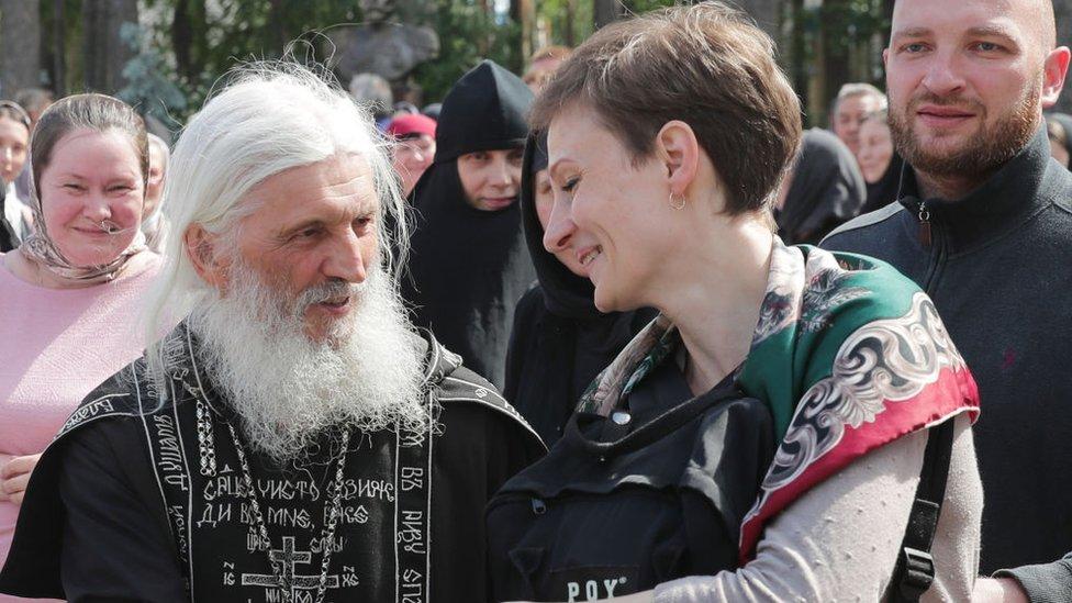 Father Sergei at Sredneuralsk in June 2020