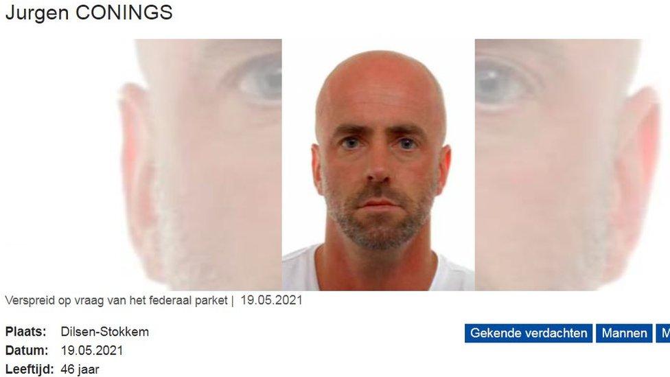 Alerta de la policía belga sobre Jurgen Conings