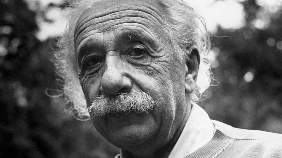 Einstein mayor, en la década de 1940.