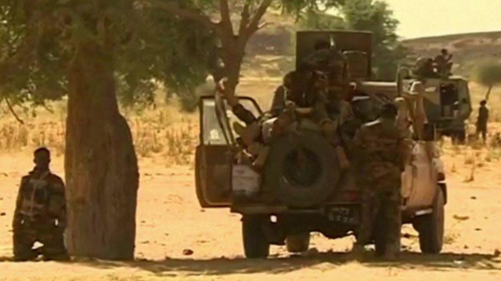 Troops in Niger following jihadist attacks that killed 100 people, 3 January 2021