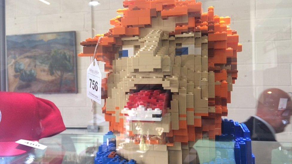 Ed Sheeran's Lego head