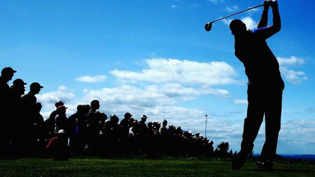 Phil Mickleson tees off at Scottish Open