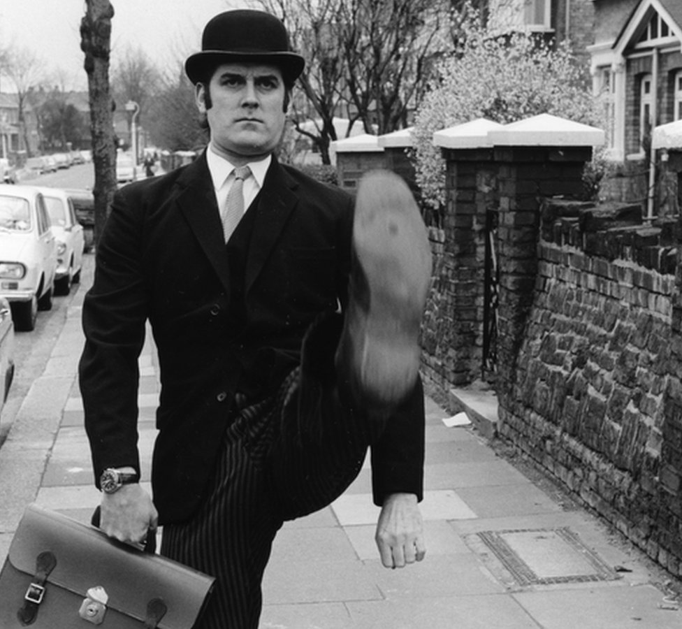 Ministry of Silly Walks sketch, Monty Pythons Flying Circus, 1971