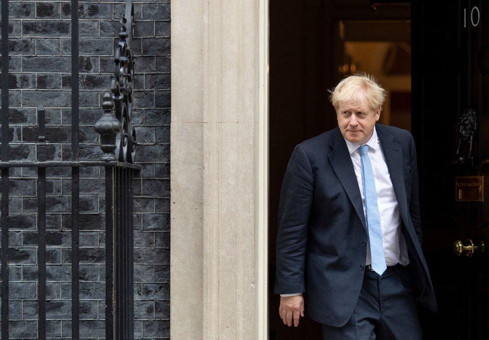 Boris Johnson leaving 10 Downing Street