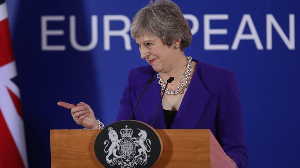 Theresa May at the October EU summit