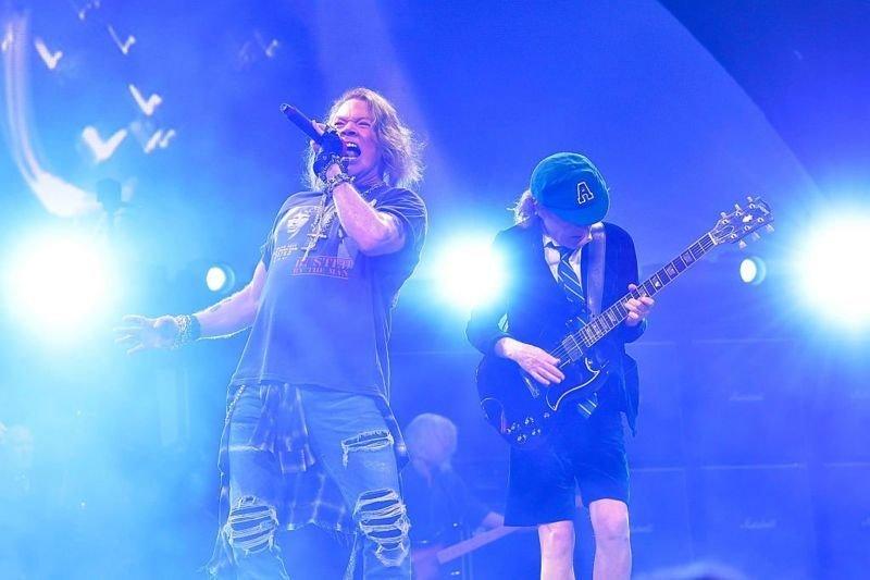 Axl Rose, 2016 yılında AC/DC ile 23 konserde sahne aldı.