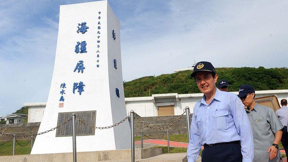 台灣前總統馬英九2012年前往彭佳嶼巡視