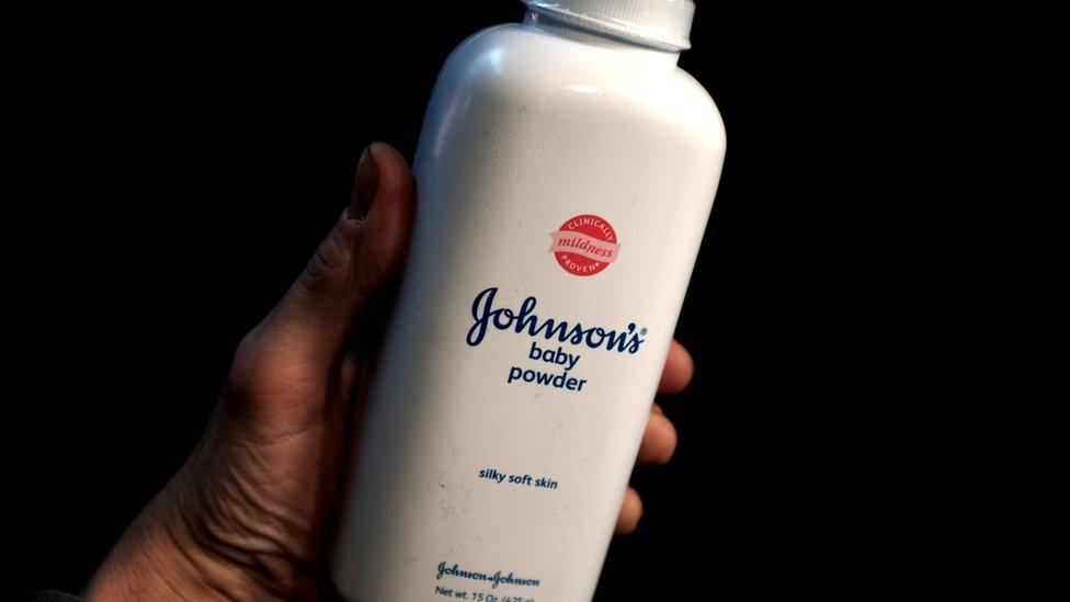 Pomo de talco para bebés de Johnson & Johnson