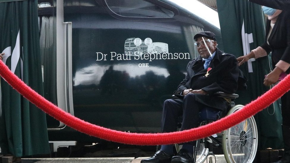 Paul Stephenson had GWR train named after him