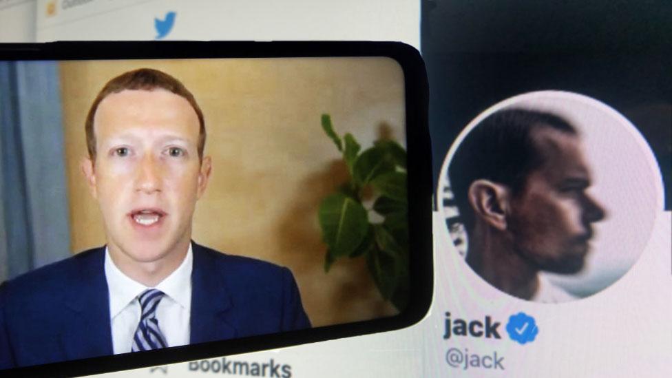 Zuckerberg y Dorsey