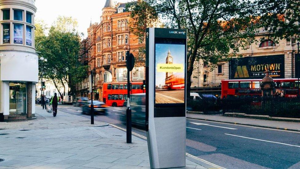 An InLinkUK kiosk in Holborn, London