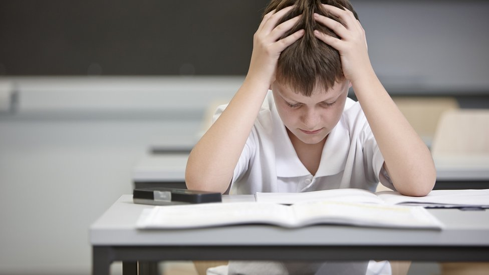 Boy struggling in class (file photo)