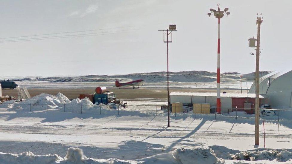 Runway at Iqaluit Airport