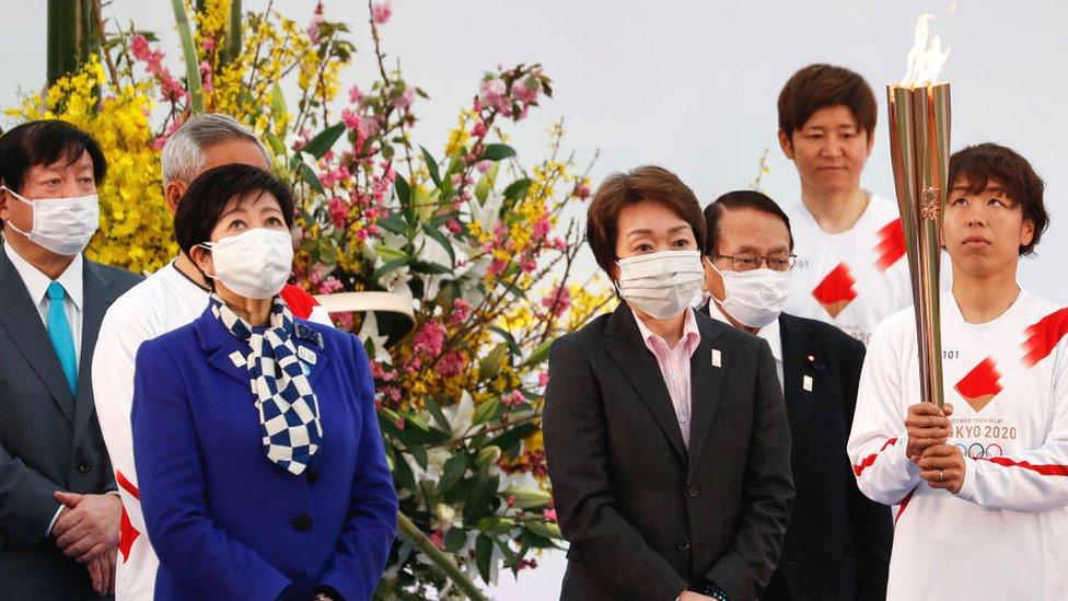 東京奧運傳遞聖火早在三月開始。