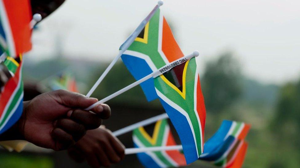 Banderas de Sudáfrica.