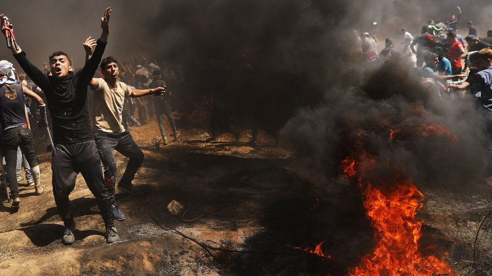 Protestas en Gaza.