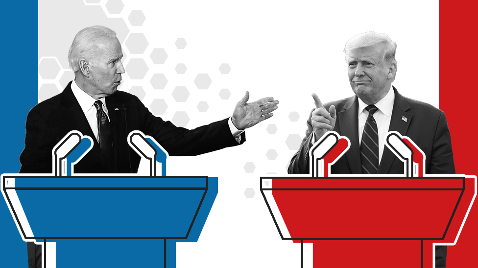 Us Election 2020 What Time Is The Trump V Biden Presidential Debate Bbc News