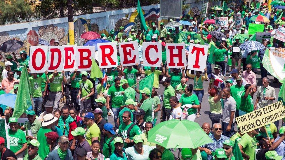 Protesta contra Odebrecht