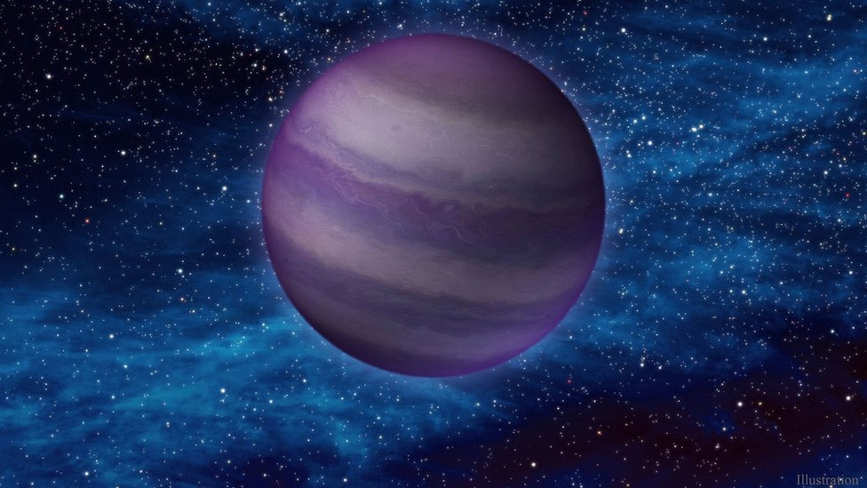 Esta ilustración muestra una enana marrón oscura y fría en el espacio.