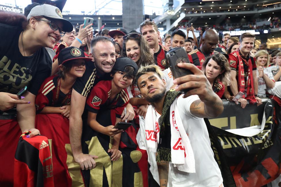 Martínez se ha convertido en el ídolo del Atlanta, equipo que atrae más de 70.000 espectadores en cada partido de local.