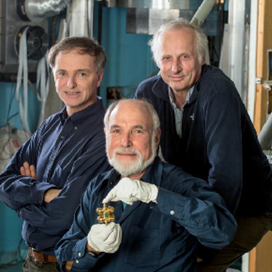 Eöt-Wash Group: Jens Gundlach, Eric Adelberger y Blayne Heckel, de izquierda a derecha.