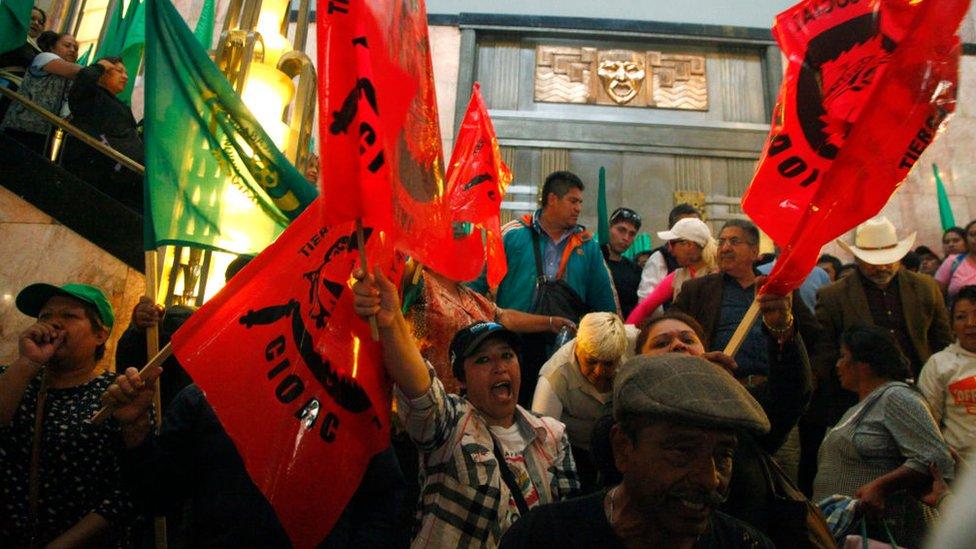 protesta de agricultores comuneros