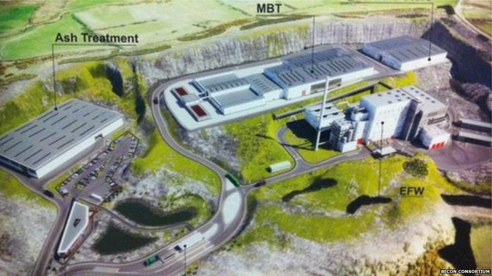 An artist's impression of the proposed waste facility