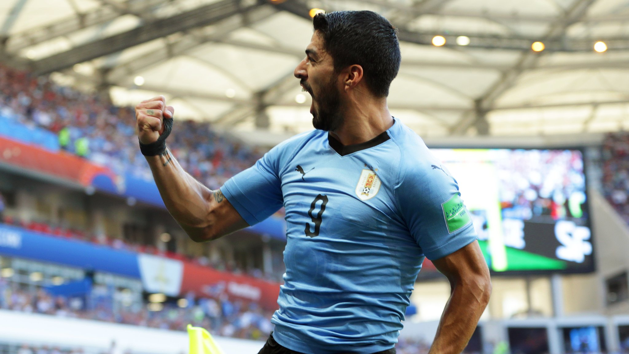 Watch: Suarez celebrates 100th cap with a goal