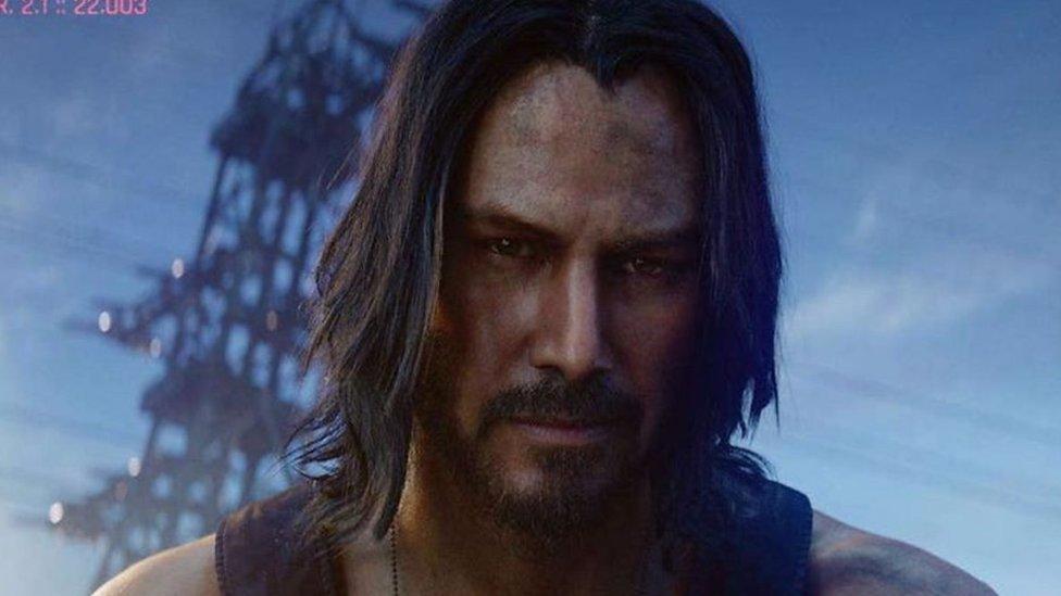 Oyunda Keanu Reeves Jonny Silverhand karakterini canlandırıyor
