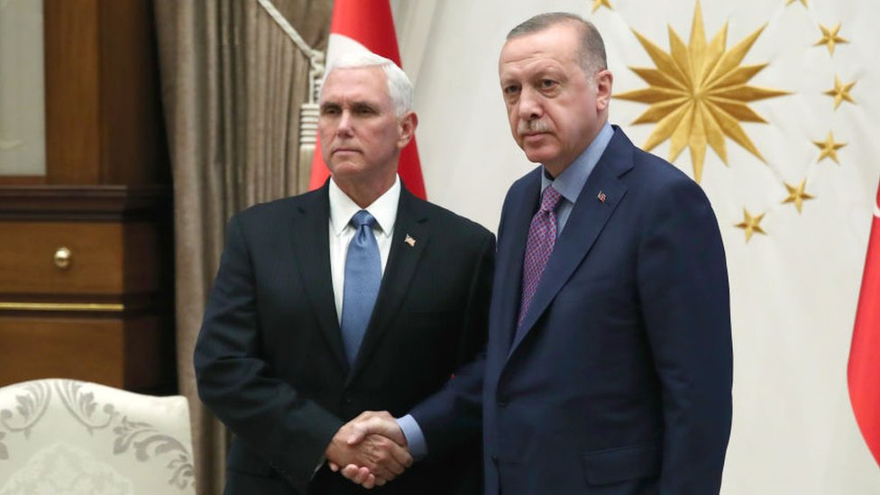 Mike Pence y Recep Tayyip Erdogan
