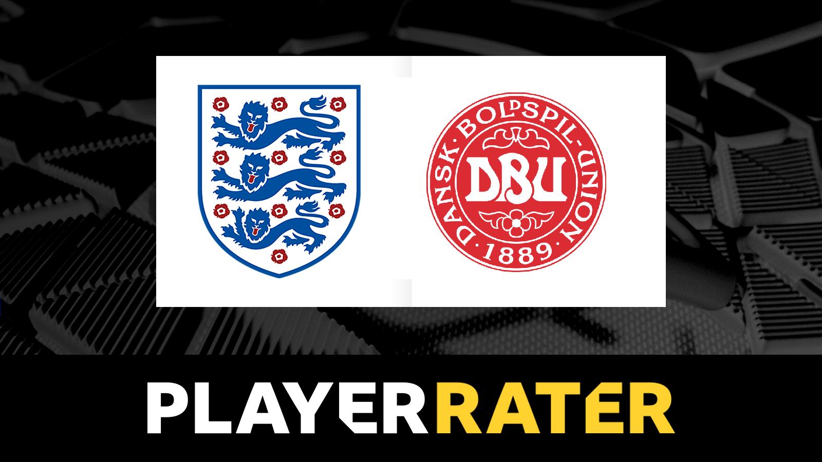 England v Denmark - player rater