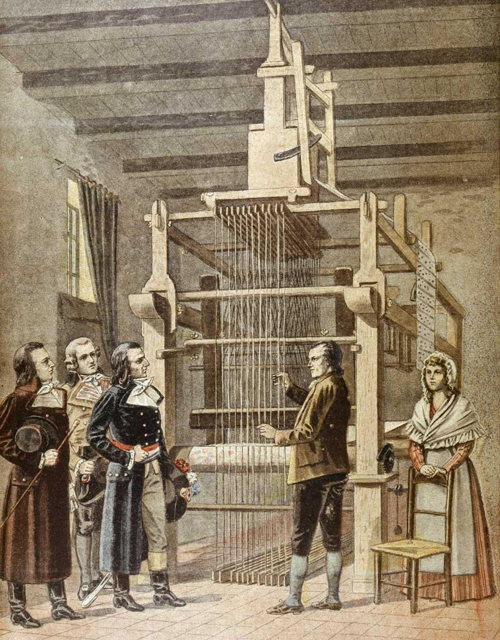 Džozef Mari Džekvard demonstrira svoju mašinu