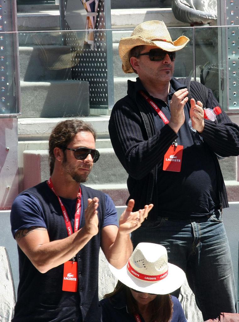 Miguel Bosé con Ignacio Palau