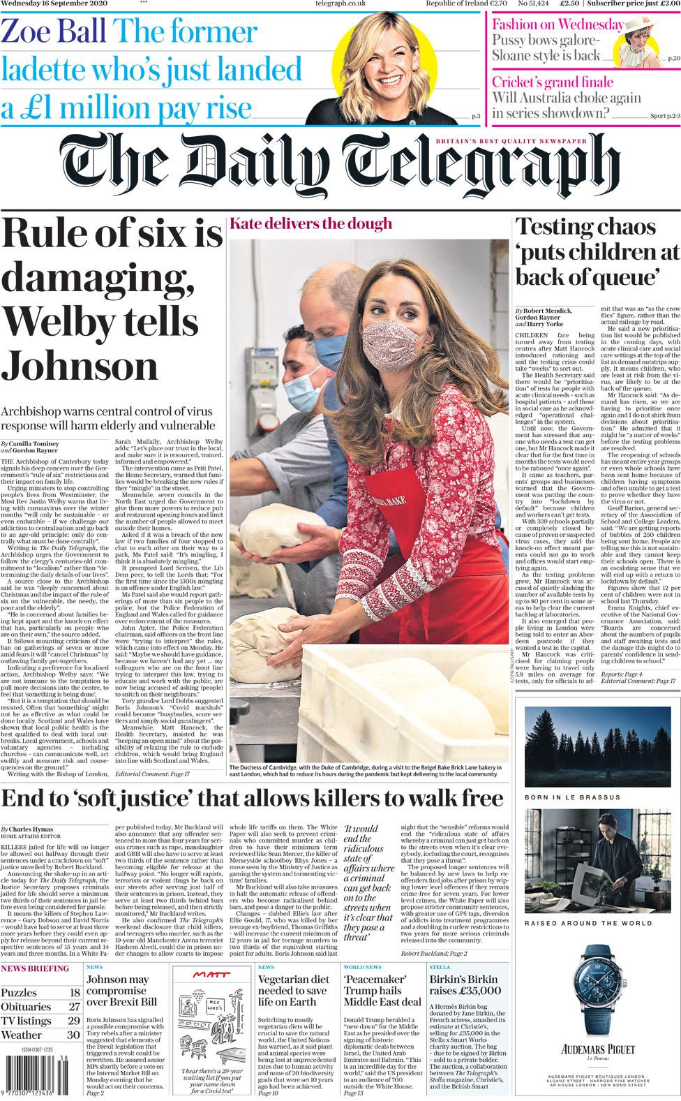 Daily Telegraph 16 September