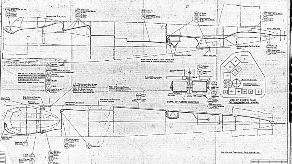A technical drawing of the Mosquito