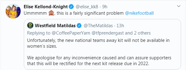 "Tweet from Elisde Kellond-Knight that reads: ""Umm. This is a fairly significant problem"""