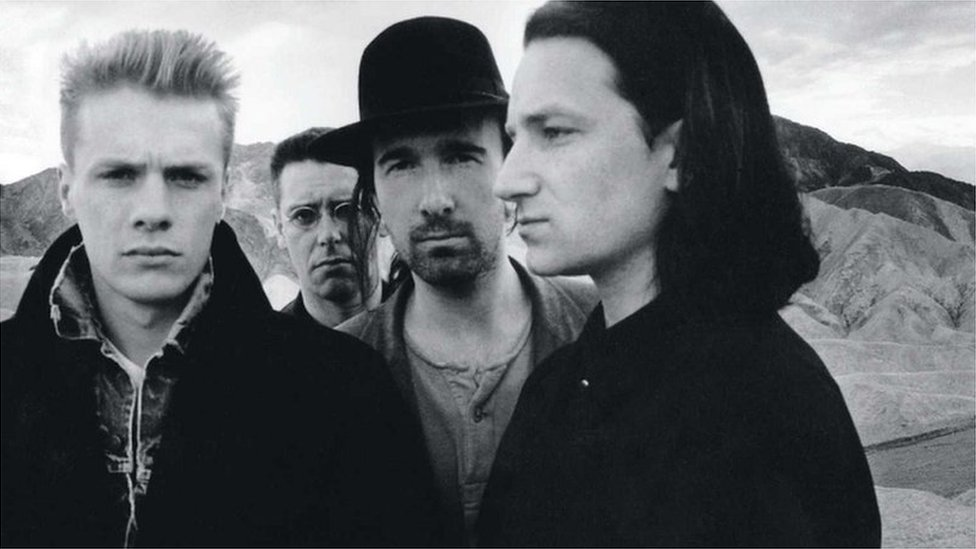 The cover for U2's Joshua Tree album