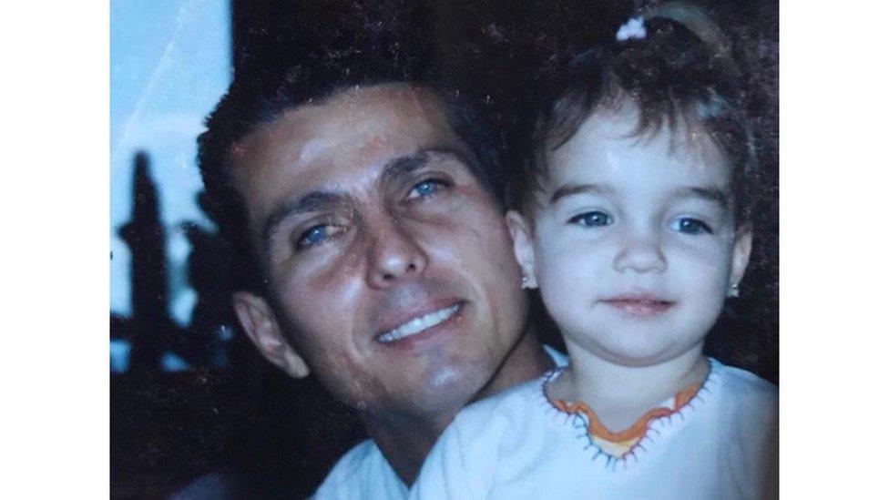 Ramón y su hija Julia en 2005.