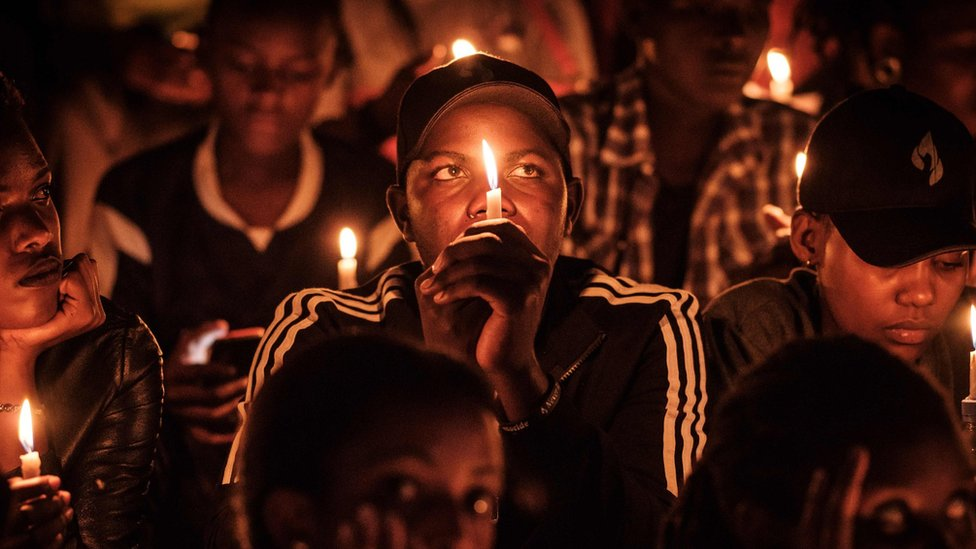vigil for rwandan genocide