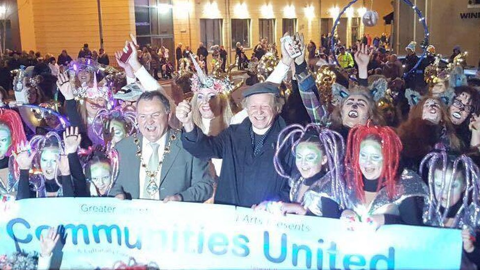 Londonderry's celebrations were billed as the biggest Halloween party in Europe
