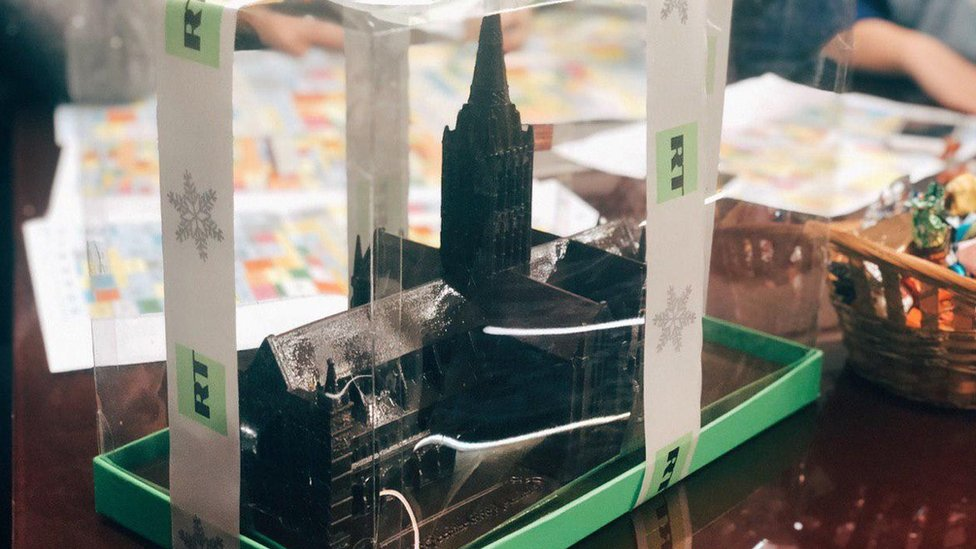 RT: Russian station's chocolate Salisbury Cathedral gift slammed