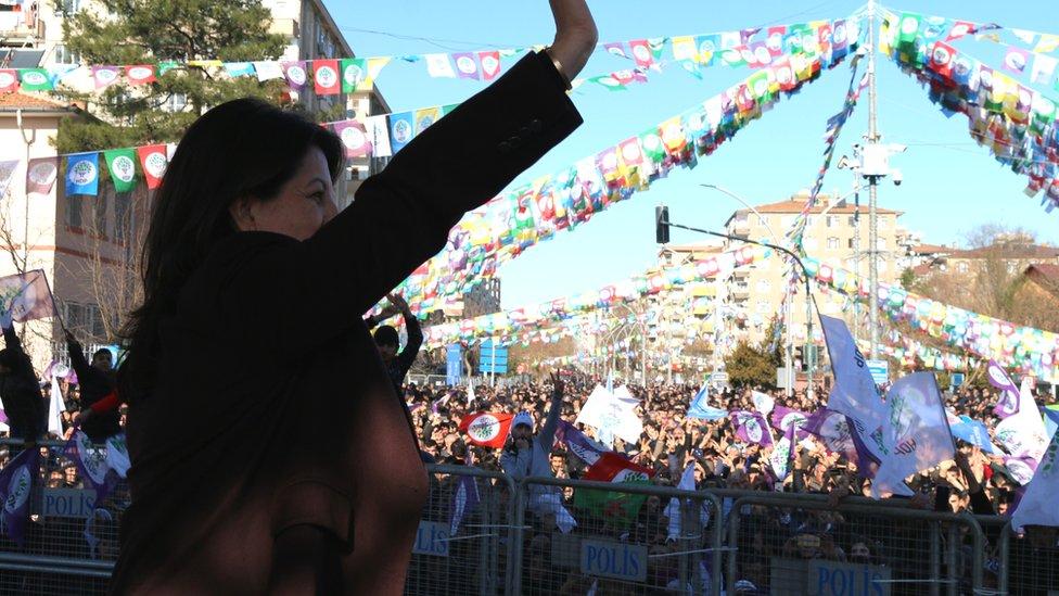 """Pervin Buldan, """"Leyla Güven'in talebi bizim de talebimiz"""" dedi."""