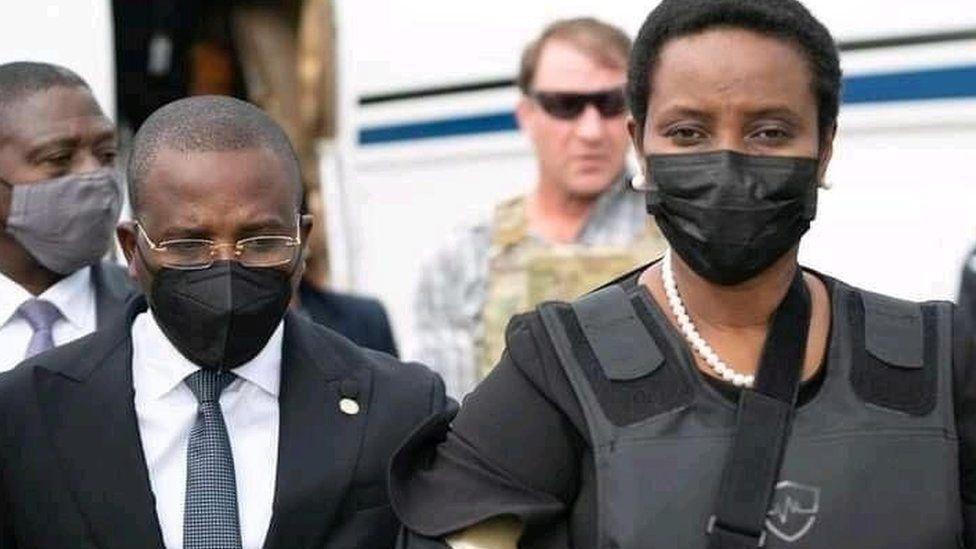 أرملة رئيس هايتي الراحل